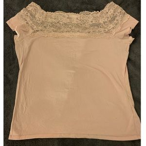 H&M Light Pink Lace Top 💕